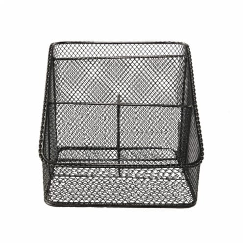 HD Designs Mesh Wire Office Organizer - Black Perspective: front
