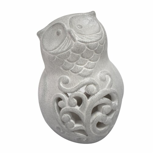 Earth Accents Owl Luminary Lantern - White Perspective: front