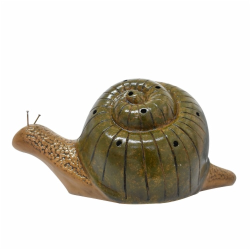 Earth Accents Snail Luminary Lantern - Brown/Green Perspective: front