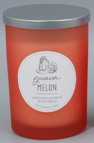 HD Designs® Guava Melon Jar Candle - Orange Perspective: front
