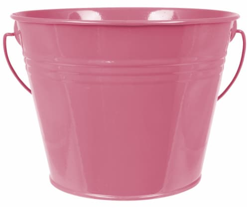 HD Designs Outdoors® Painted Pail - Citro Pink Perspective: front