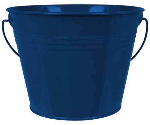 HD Designs Outdoors® Painted Pail - Citro Blue Perspective: front