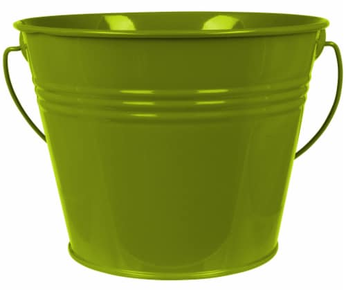 HD Designs Outdoors® Painted Pail - Citro Olive Perspective: front