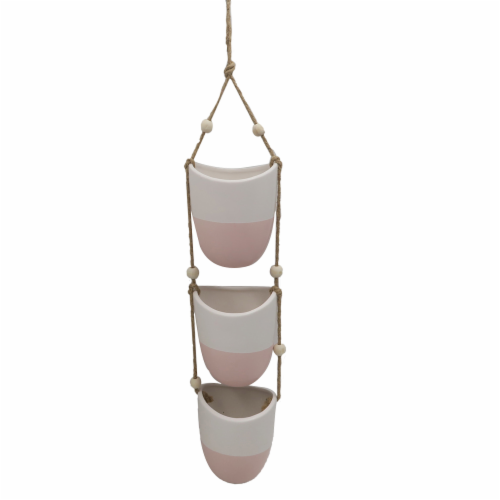 Dip™ Hanging Planter - Pink Perspective: front