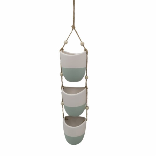 Dip™ Hanging Planter - Blue Perspective: front