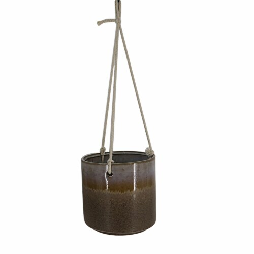 HD Designs Outdoors® Ceramic Hanging Plater - Brown Perspective: front