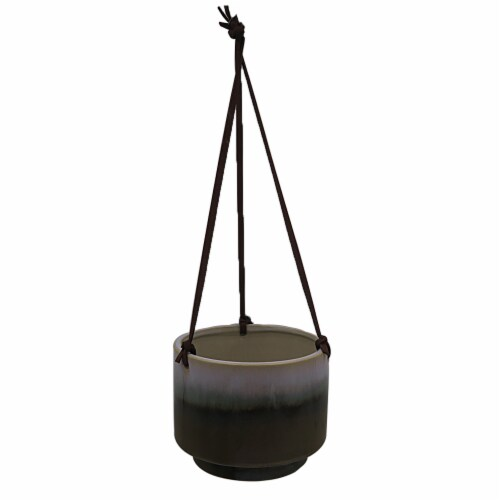HD Designs Outdoors® Ceramic Hanging Plater - Green Perspective: front