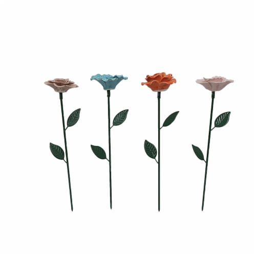 HD Designs Outdoors® Ceramic Flower Stake Perspective: front