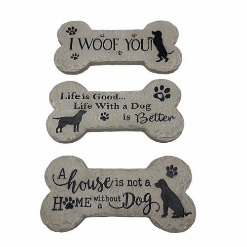 The Joy of Gardening® Bone Stepping Stone - Assorted Perspective: front