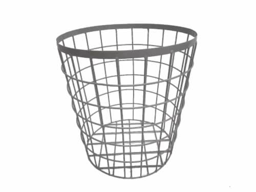 HD Designs Large Wire Basket - Gray Perspective: front