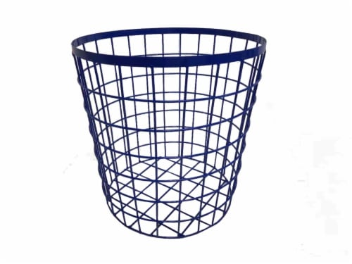 HD Designs Medium Wire Basket - Blue Perspective: front