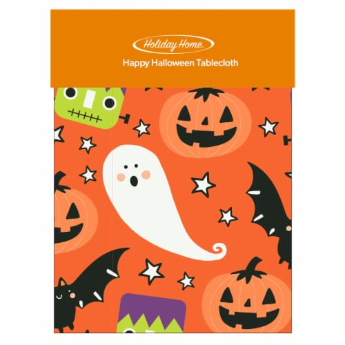 Holiday Home® Happy Halloween Vinyl Tablecloth Perspective: front