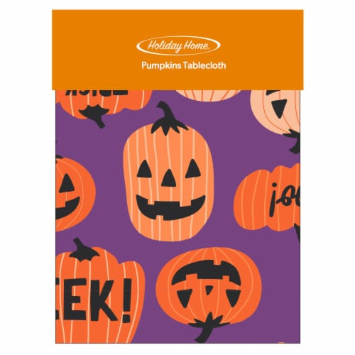 Holiday Home® Pumpkins Vinyl Tablecloth Perspective: front