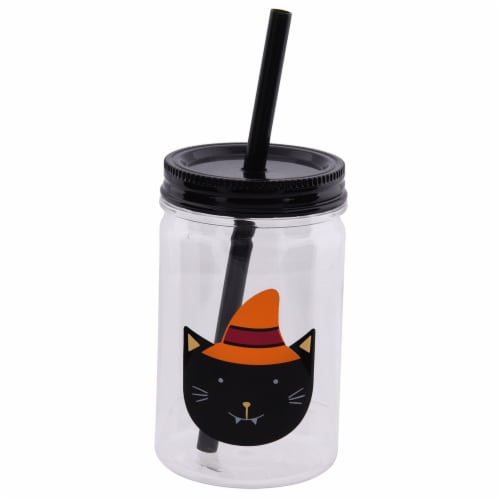 Holiday Home Mason Jar Sipper - Kitten Perspective: front
