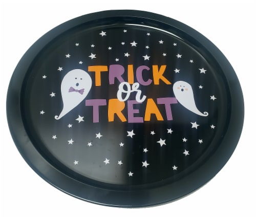 Holiday Home® Halloween Trick or Treat Tray Perspective: front