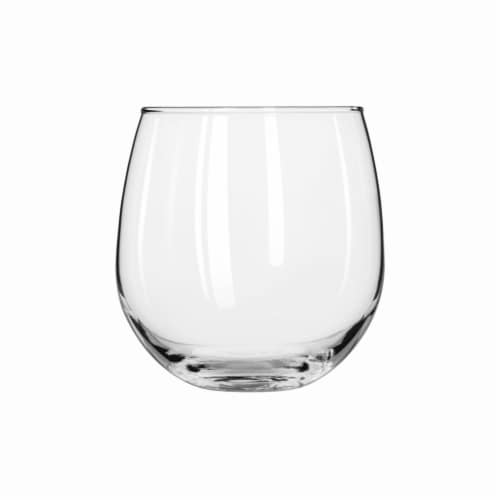 Dash of That™ Vina Stemless Red Wine Glasses - Clear Perspective: front