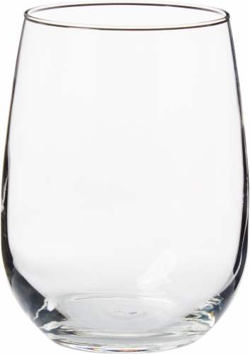 Dash of That Stemless White Wine Glassware Set - Clear Perspective: front
