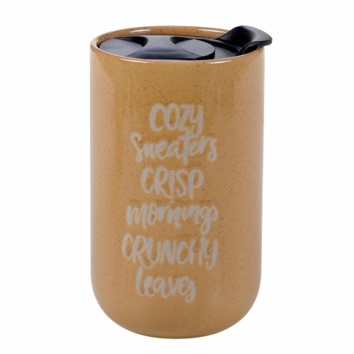 Holiday Home Coffee Mug - Cozy Crispy Crunchy Perspective: front