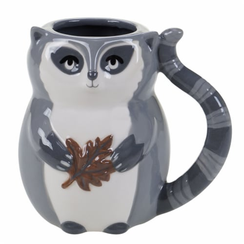 Holiday Home 3D Mug - Raccoon Perspective: front