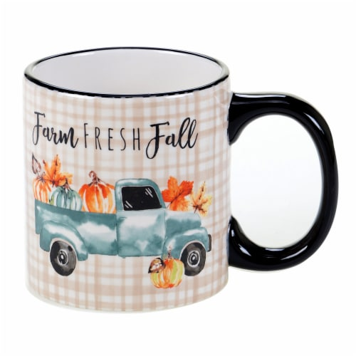 Holiday Home Harvest Novelty Mug - Farm Fresh Fall Truck Perspective: front