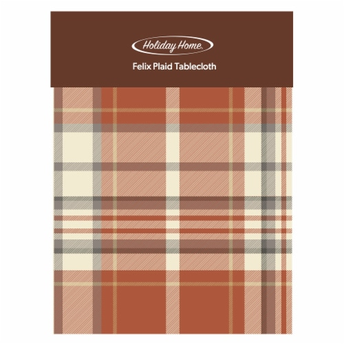 Holiday Home® Felix Plaid Tablecloth Perspective: front