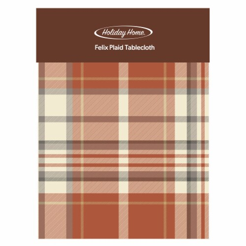 Holiday Home® Felix Plaid Round Tablecloth Perspective: front