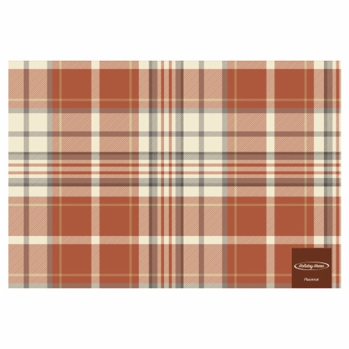Holiday Home Felix Plaid Placemat Perspective: front