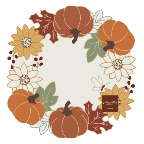 Holiday Home Pumpkin and Sunflower Placemat Perspective: front