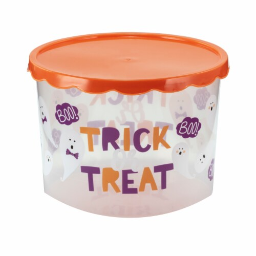 Holiday Home Trick or Treat Cookie Containers Perspective: front