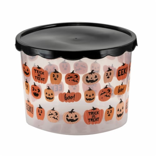 Holiday Home Pumpkin Cookie Containers Perspective: front