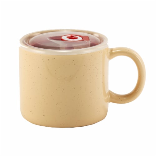 Holiday Home Soup Mug - Butter Yellow Perspective: front