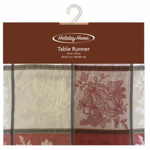 Holiday Home® Woven Pumpkin Table Runner Perspective: front