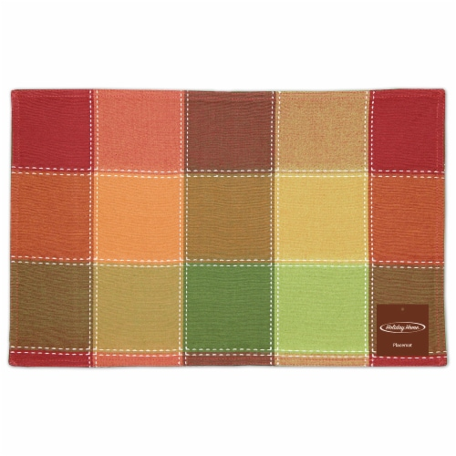 Holiday Home® Placemat - Autumn Check Perspective: front