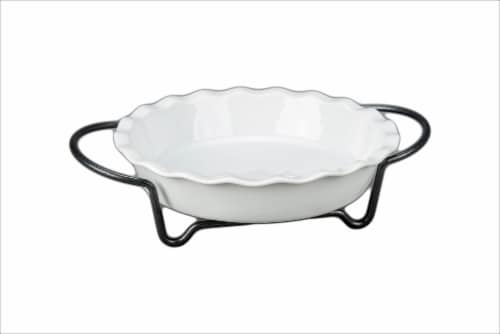 Dash of That Pie Dish with Rack Perspective: front