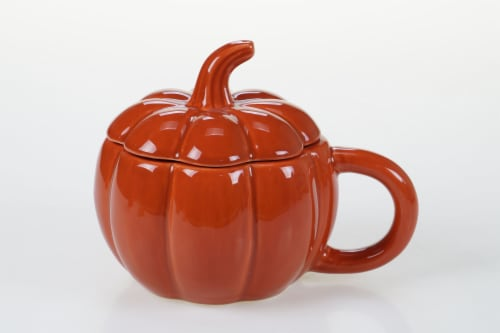Dash of That Harvest Ginger Spice Pumpkin Soup Bowl Perspective: front