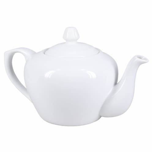 Dash of That Broadway Teapot - White Perspective: front