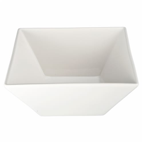 Dash of That™ Broadway Square Flare Bowl - White Perspective: front