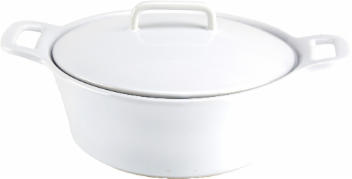 Dash of That Round Casserole Dish Perspective: front