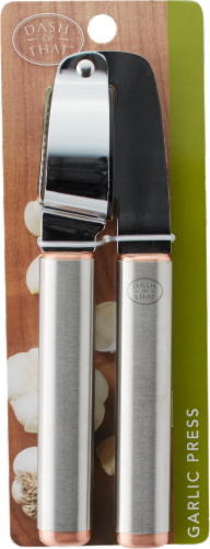 Dash of That™ Garlic Press - Silver Perspective: front