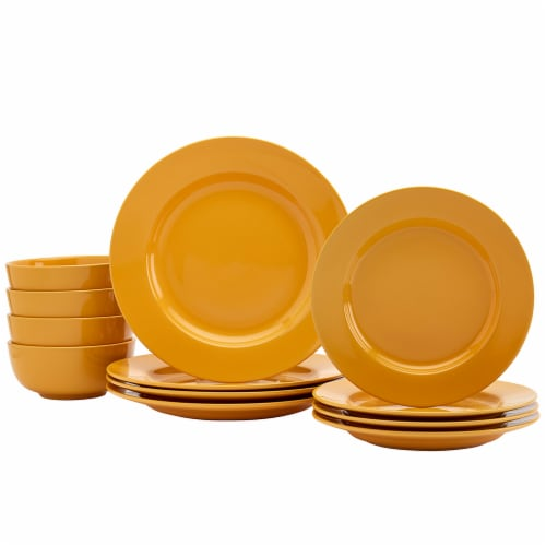 Dash of That Amalfi Dinnerware Set - Gold Perspective: front
