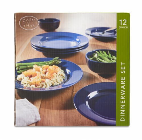 Dash of That Amalfi Dinnerware Set - Navy Perspective: front