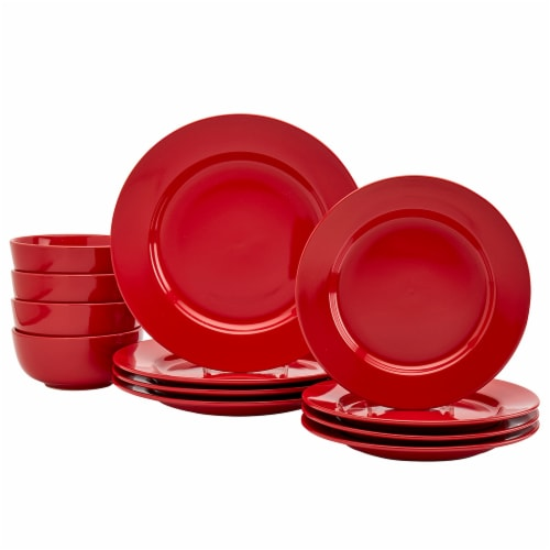 Dash of That Amalfi Dinnerware Set - Red Perspective: front