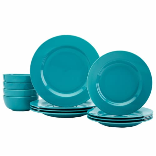 Dash of That Amalfi Dinnerware Set - Teal Perspective: front