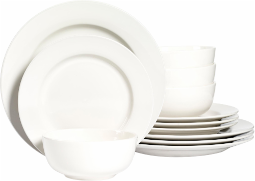 Dash of That Amalfi 12-Piece Dinnerware Set - Ivory Perspective: front