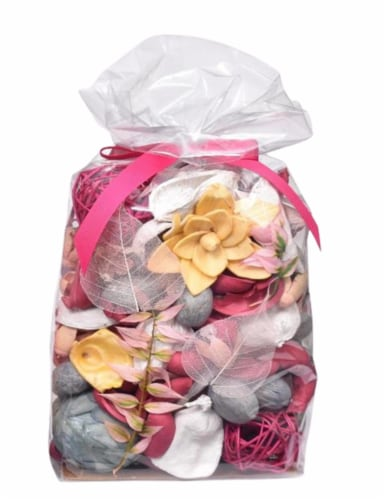 HD Designs® Fragranced Potpourri with Ribbon - Pink Perspective: front