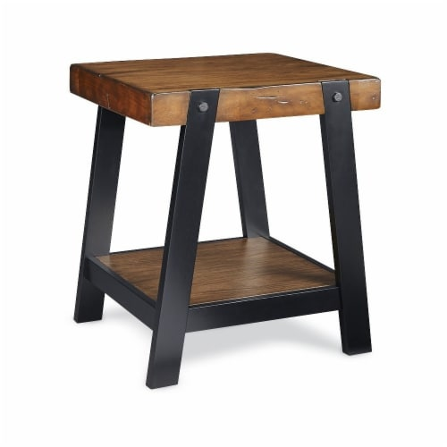 HD Designs® Kenya End Table - Brown/Black Perspective: front