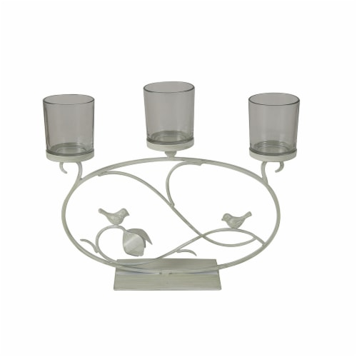 HD Designs Metal Bird Candle Holder - Ivory Perspective: front