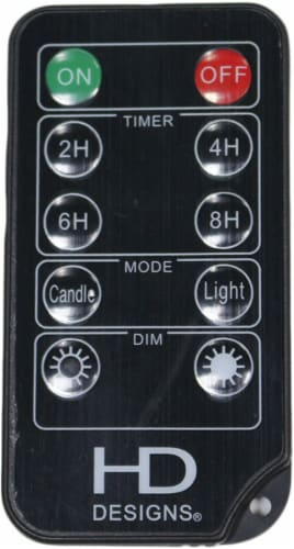 HD Designs String Light Remote - Black Perspective: front