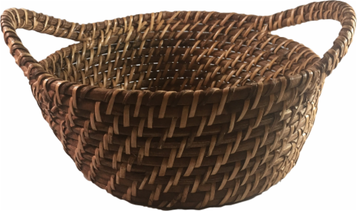 Dash of That Rattan Bread Bowl - Brown Perspective: front