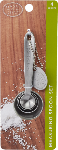 Dash of That™ Stainless Steel Measuring Spoon Set - Silver Perspective: front
